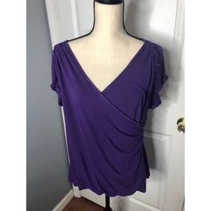 Torrid Purple Wrap Shirt